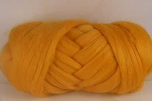 Ballarat Gold--A bright saffron gold.  18.5 micron Merino Wool Tops.