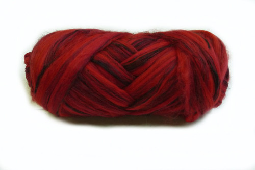 Merino and Flax blended roving.  This color is Sturt Pea