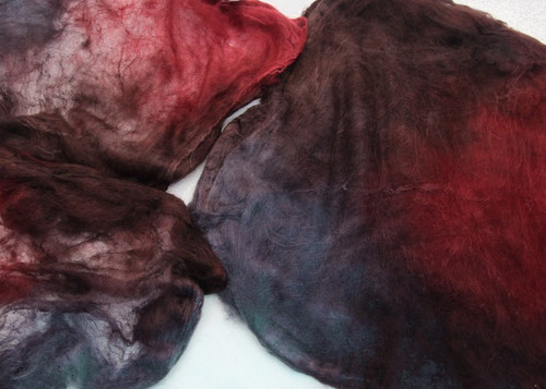 Silk hankies.  This color harmonies color is Banded Iron