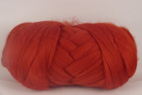 Simpson Desert--Brick red with rusty-orange undertones.  18.5 micron Merino Wool Tops.