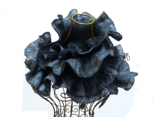 Beautiful felted collar made from merino wool with silk embellishments.