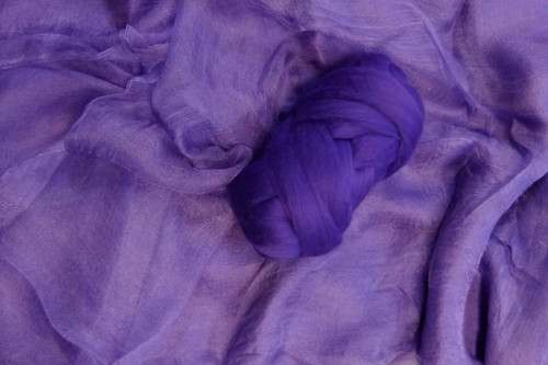 Dyed Butterfly Silk | Margilan Dyed Silk--Purple 9 yds (PUR-54)