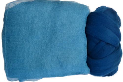 Butterfly Silk   Margilan Dyed Silk--Medium Blue-Green 9 yds (MBLGR-57)