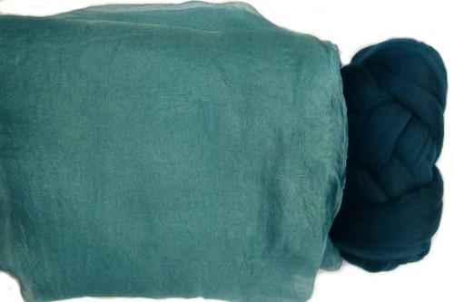 Butterfly Silk | Margilan Dyed Silk--Medium Teal 9 yds (MTEA-58)