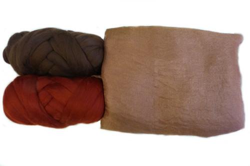 Butterfly Silk | Margilan Dyed Silk--Russet 9 yds (RUSS-62)