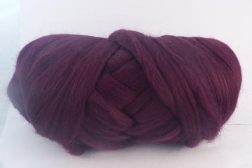 Barossa Wine--Dark burgundy with black undertones.  18.5 micron Merino Wool Tops.