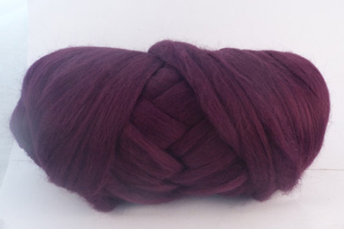Barossa Wine--Dark burgundy with black undertones.  18.5 micron Merino Wool Tops.