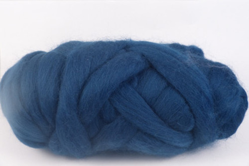 Sydney Harbour--Mid-navy with green undertones.  18.5 micron Merino Wool Tops.