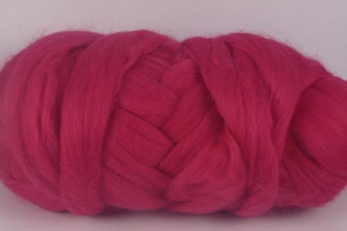 Tasmanian Raspberry--Rich pink/red.  18.5 micron Merino Wool Tops.