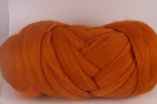 Terra Cotta--Deep burnt orange.  18.5 micron Merino Wool Tops.