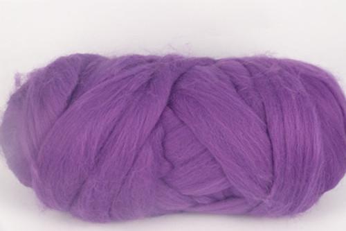 Tibouchina--Hot version of Pantone's Thai Orchid.  18.5 micron Merino Wool Tops.