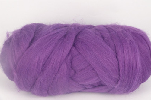 Tibouchina--Hot version of Pantone's Thai Orchid.  18.5 micron Merino Wool Tops.