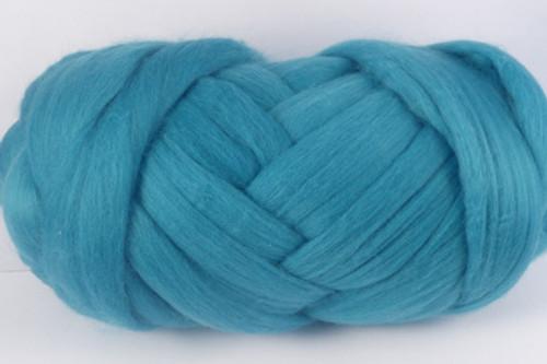 Tropic--Slightly greyed version of Turquoise.  18.5 micron Merino Wool Tops.