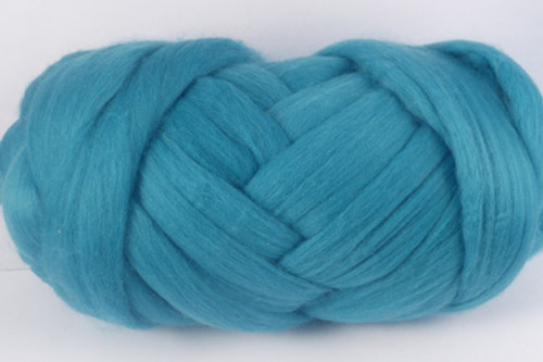 Tropic--Slightly greyed version of Turquoise.  18.5 micron Merino Wool Tops.