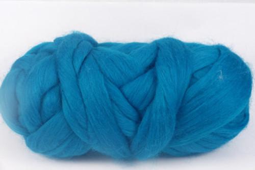 Barrier Reef--vivid Carribbean blue. Less green than Capricorn.  18.5 micron Merino Wool Tops.