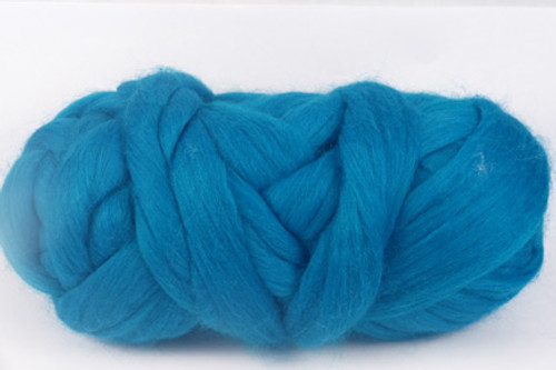 Barrier Reef--vivid Carribbean blue. Less green than Capricorn.  18.5 micron Merino Wool Tops.