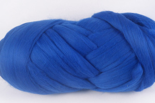 True Blue--Fabulous shade of rich royal blue.  18.5 micron Merino Wool Tops.