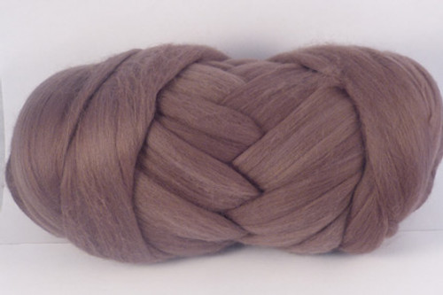 Wallaby--Soft brown with pink undertones.  18.5 micron Merino Wool Tops.