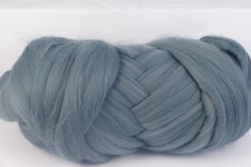 Wombat Grey--Medium cool-grey.  18.5 micron Merino Wool Tops.