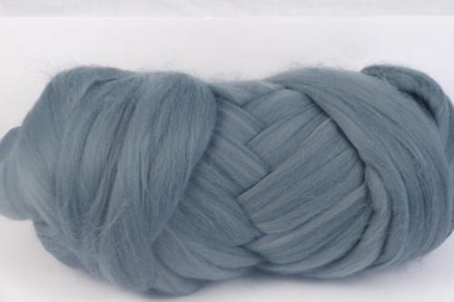 Wombat Grey--Medium cool-grey.  18.5 micron Merino Wool Tops.