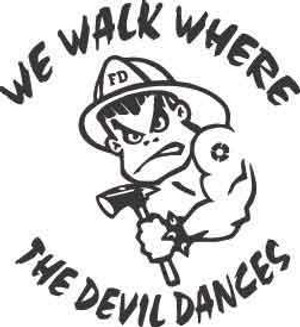 We Walk Where The Devil Dances Decal