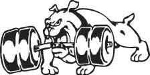 Weightlifting Bulldog Decal