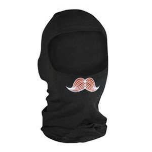 BALACLAVA, BAMBOO/COTTON, MUSTACHIO, EMBROIDERED