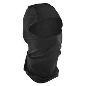 BALACLAVA, BAMBOO/COTTON, BLACK