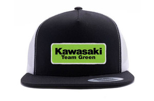 FACTORY EFFEX KAW TEAM GREEN SNAPBACK HAT/ BLACK-WHITE MESH OS