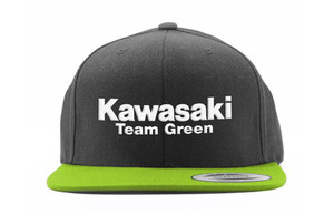 FACTORY EFFEX KAW TEAM GRN SNAP BACK YOUTH HAT / BLACK-GREEN OS