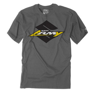 FACTORY EFFEX SUZUKI ARMY YOUTH T-SHIRT / CHARCOAL