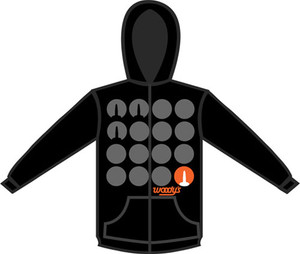 WOODY'S STAND OUT MENS ZIP UP HOODIE BLACK
