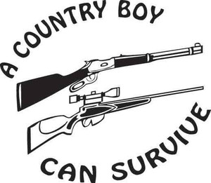 A Country Boy Can Survive Decal