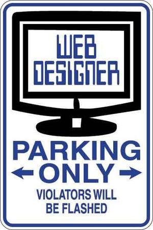 Web Designer Parking Only Sign Decal