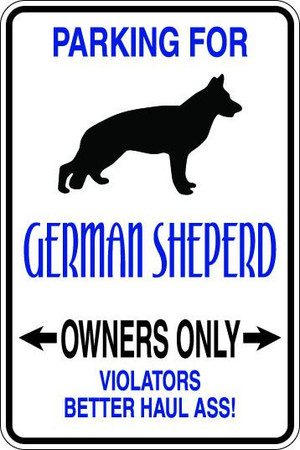 German Sheperd Owners Only Sublimated Aluminum Magnet