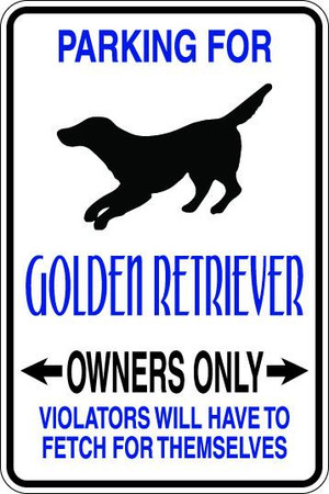 Golden Retriever Owners Only Sublimated Aluminum Magnet