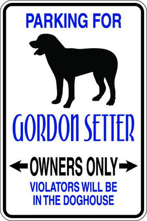 Gordon Setter Owners Only Sublimated Aluminum Magnet