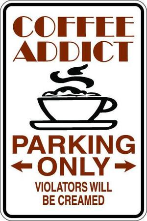 Coffee Addict Sublimated Aluminum Magnet