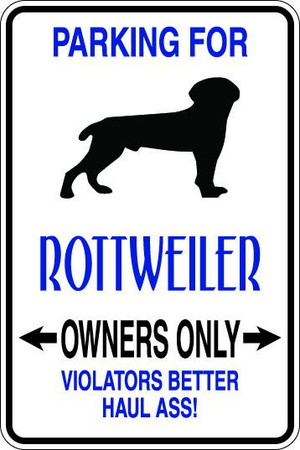 Rottweiler Owners Only Sublimated Aluminum Magnet