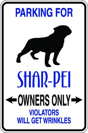 Shar-Pei Owners Only Sublimated Aluminum Magnet