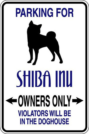Shiba Inu Owners Only Sublimated Aluminum Magnet