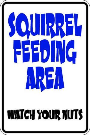 Squirrel Feeding Area Sublimated Aluminum Magnet