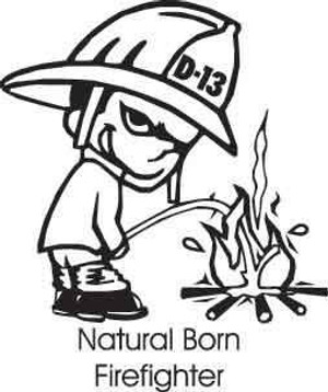 Natural Born Firefighter Decal