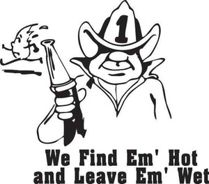 We Find Em Hot Decal