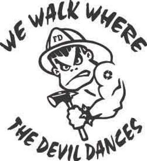 We Walk Where The Devil Dances Decal