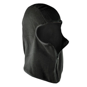 BALACLAVA, MICROFLEECE W/ZIPPER, BLACK