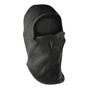 BALACLAVA, FLEECE, VELCRO CLOSURE, BLACK