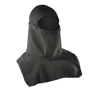 BALACLAVA, FLEECE, SPANDEX CROWN, BLACK