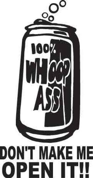 100% Whoop A** Decal