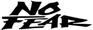 2 Line No Fear Logo Decal